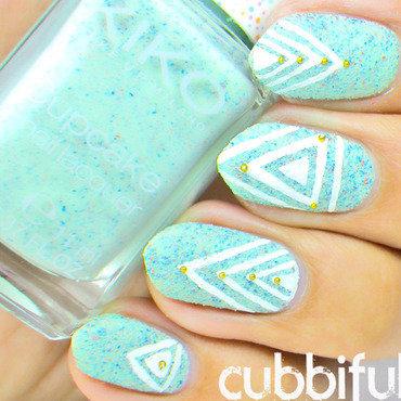 Temporary Tatto Nail Art nail art by Cubbiful