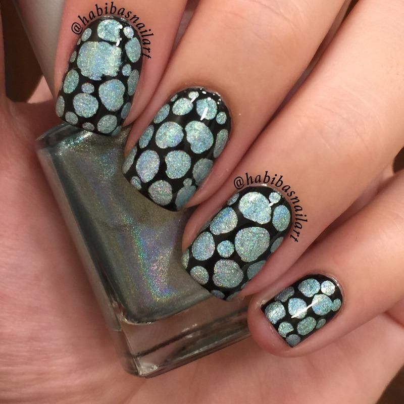 Holo Blobbicure  nail art by Habiba  El-kallas