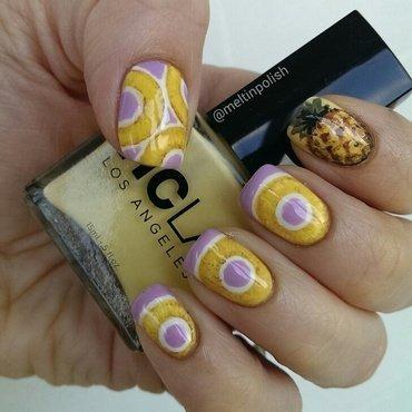 Pineapples Gone Wild nail art by Meltin'polish
