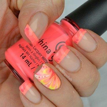 No French for Shy Girls nail art by Meltin'polish