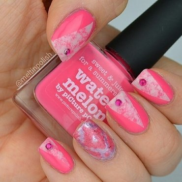 Wrapped in Pink nail art by Meltin'polish