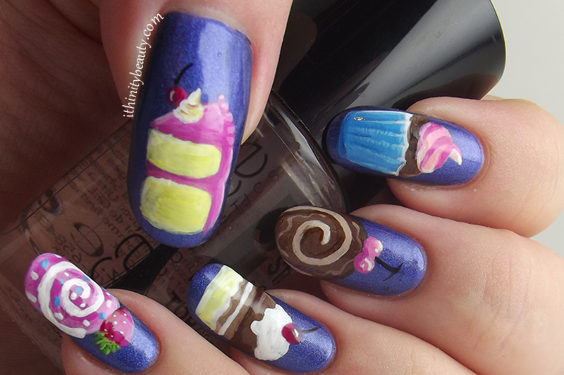 Freehand Sweet Treats  nail art by Ithfifi Williams