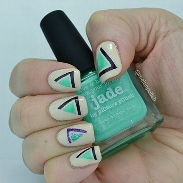 One, two, three-angles nail art by Meltin'polish