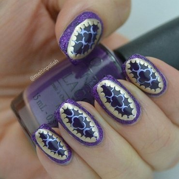 Purple Jewels nail art by Meltin'polish