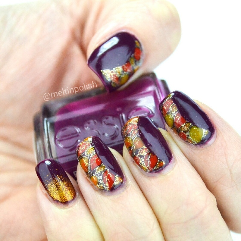What Autumn Leaves nail art by Meltin'polish
