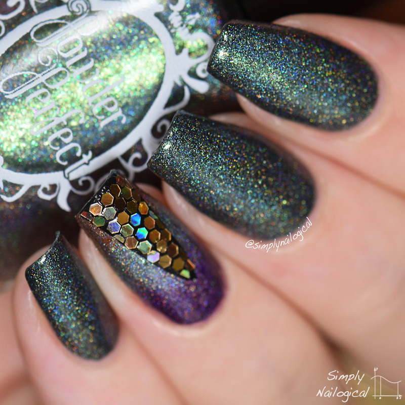 Powder Perfect Borders of the Forest Swatch by simplynailogical