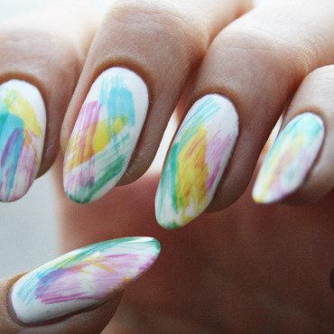 Dry brush nail art by Pat