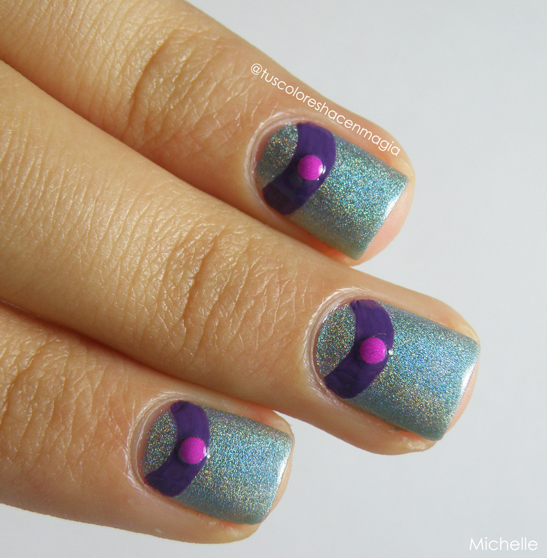 Vio-Holo nail art by Michelle Mullett