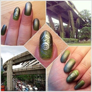 Bangkok & Singapore  nail art by Varvara