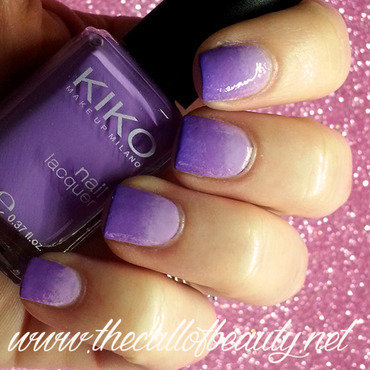Lilac Gradient nail art by The Call of Beauty