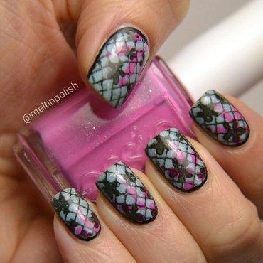 Lace&Flowers nail art by Meltin'polish