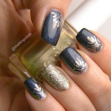 Versailles nail art by Meltin'polish