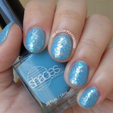 Blue and Silver Collage Floral Stamping nail art by Lisa N