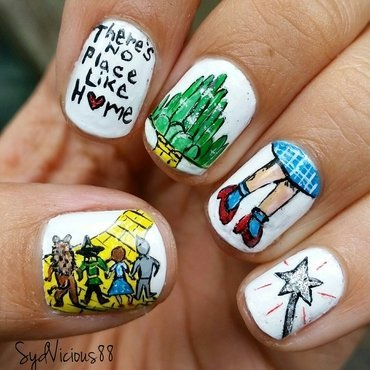 The Wizard of Oz  nail art by SydVicious
