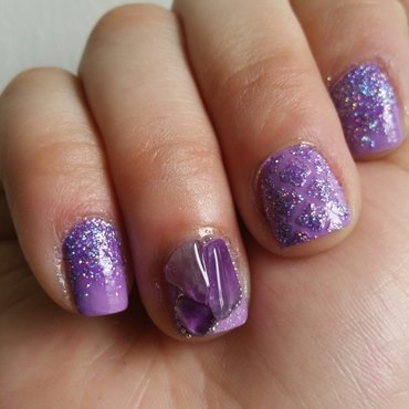 Amethysts nail art by Kristen Lovett