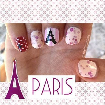 There She Goes (to Paris) nail art by Meltin'polish