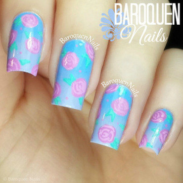 Sweet Florals nail art by BaroquenNails