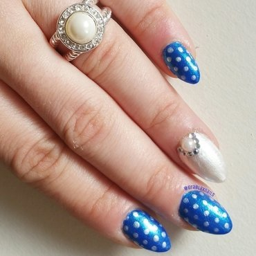Something blue nail art by Kristen Lovett