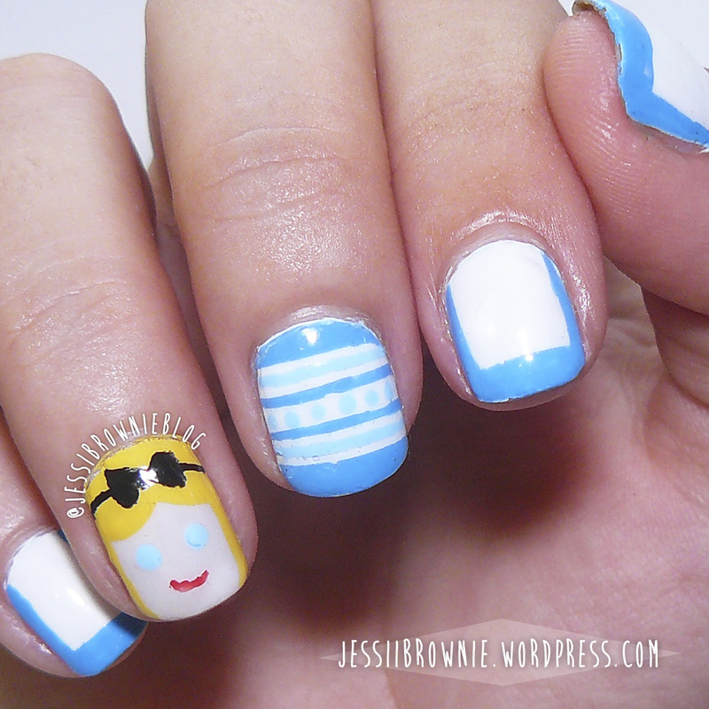 Alice afternoon Tea nail art by Jessi Brownie (Jessi)