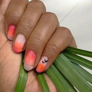 #sunrise ombre nail art by nail nakshi