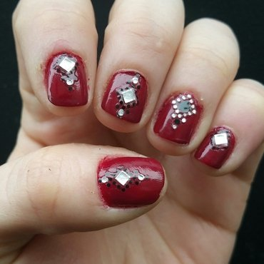 bordeaux  nail art by Kristen Lovett
