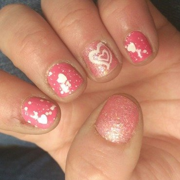 girly nails nail art by Kristen Lovett