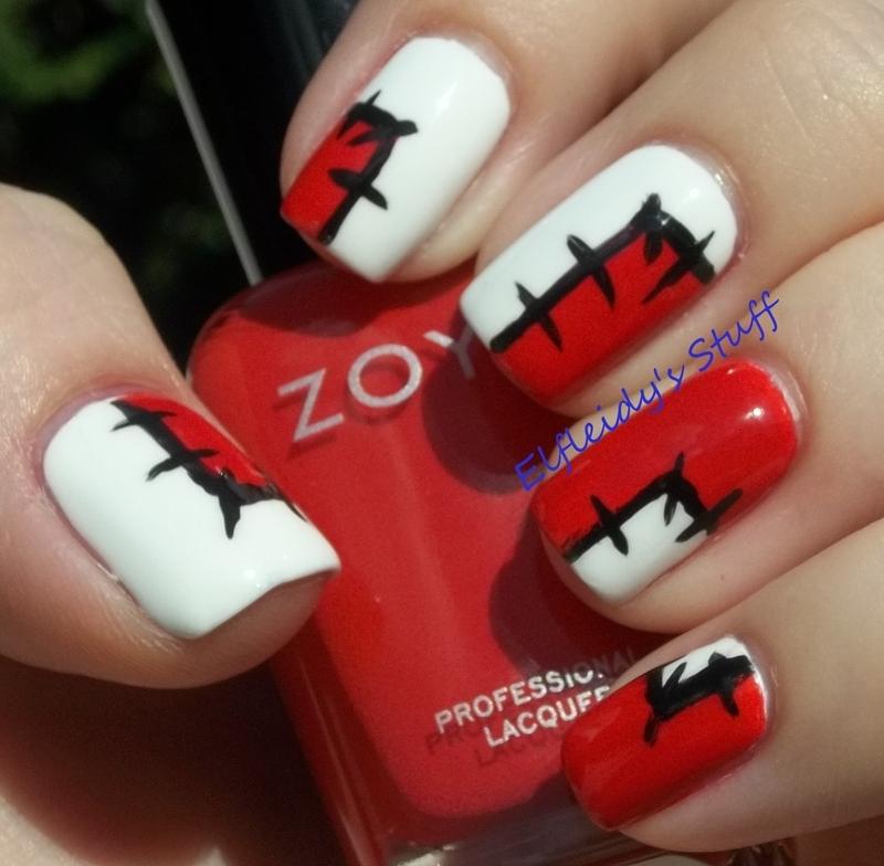 52 Week Pick n Mix Challenge- patchwork nail art by Jenette Maitland-Tomblin