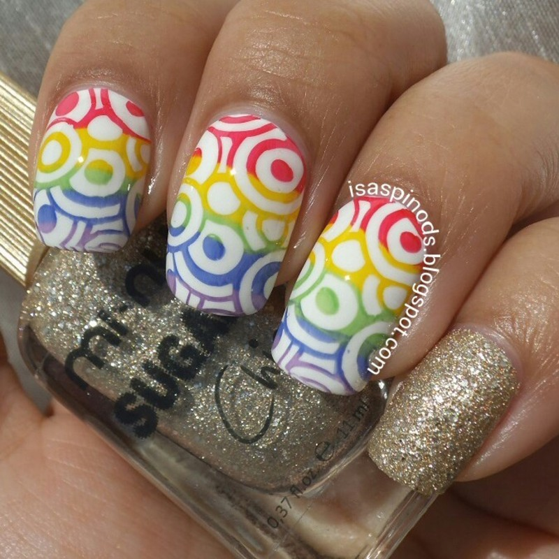 #returnoftherainbowcollab ♥ nail art by Isabel