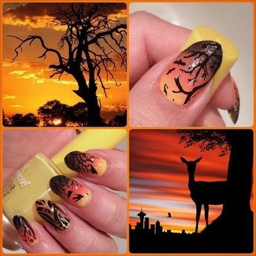 Safari  nail art by Varvara