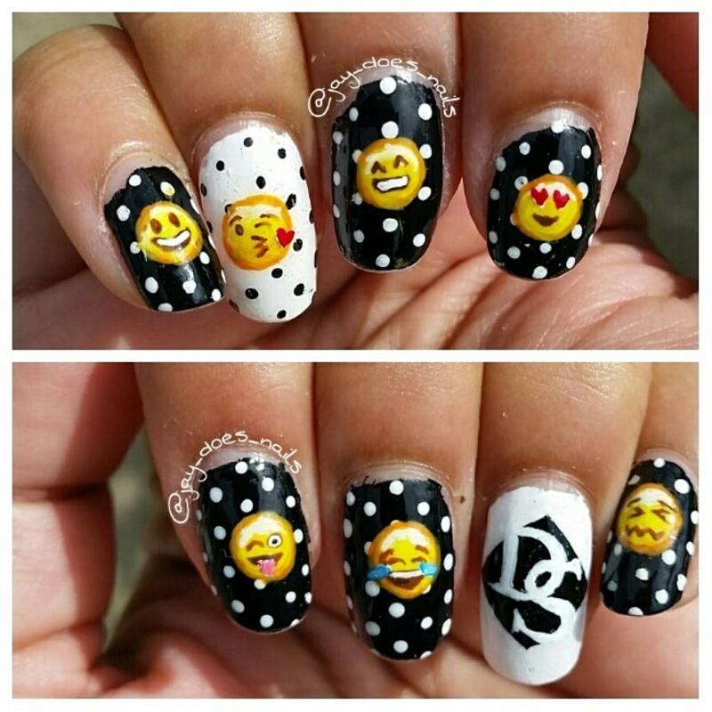 Emoji Art nail art by Jaya Kerai - Nailpolis: Museum of Nail Art