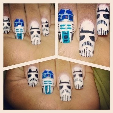 Happy Star Wars Day nail art by iveinbox