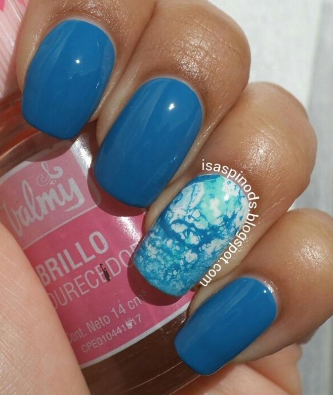 #Reto31Dias2015 Día 5 - Azul nail art by Isabel