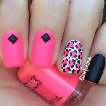 Neon X Matte nail art by Melissa