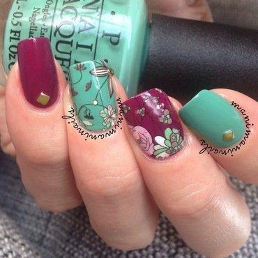 Floral nails nail art by manimaninails