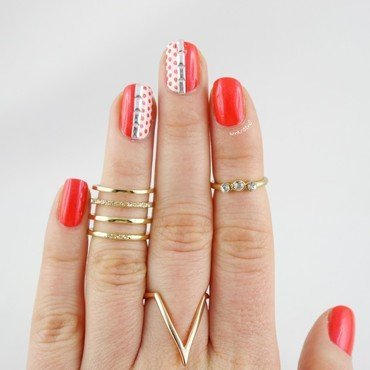 Fireball Dotticure nail art by Ann-Kristin