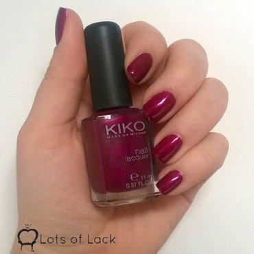 Kiko 495 pearly vanda burgundy Swatch by LotsOfLack