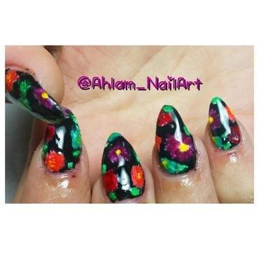 Flower Power nail art by Ahlam_NailArt