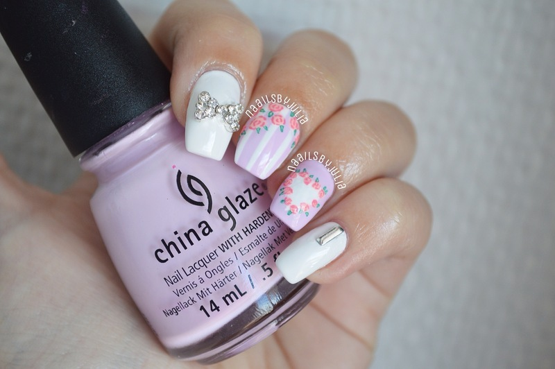 Pretty in purple nail art by Julia