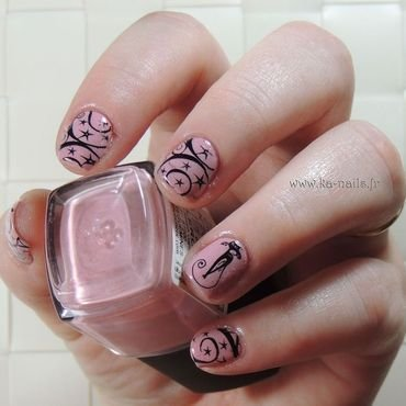 Black Cat and Magic nail art by Ka'Nails