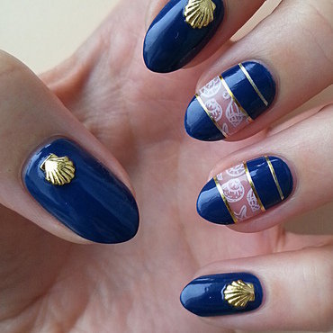 Navy Nails nail art by Mgielka M