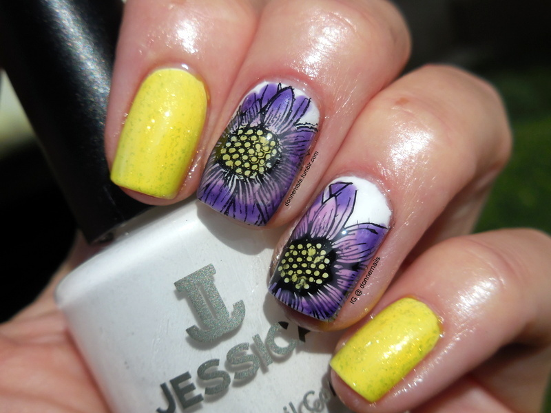 Bright Flowers nail art by Donner