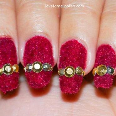 Red Velvet Nails nail art by Demi