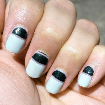 Minty Midi Mani nail art by kitalovessm