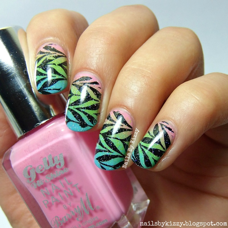 Water Marbling Without Water Nail Art By Kizzy Nailpolis Museum