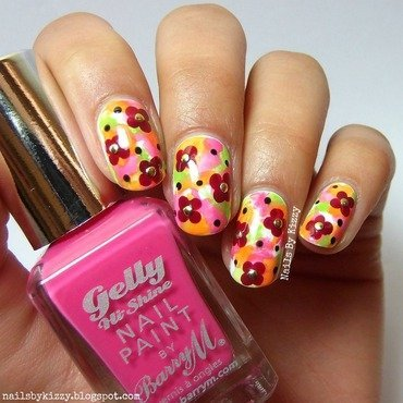 Watercolour Floral Nails nail art by Kizzy