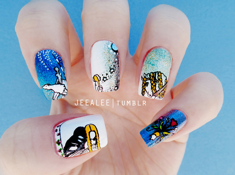 East Of The Sun And West Of The Moon Nails Nail Art By Jeea Lee