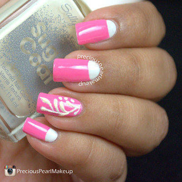 Pink Bridal Nails nail art by Pearl P.