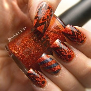 Burn Baby Burn nail art by Meltin'polish
