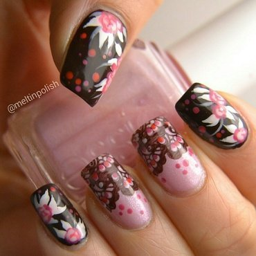Japaneserie nail art by Meltin'polish