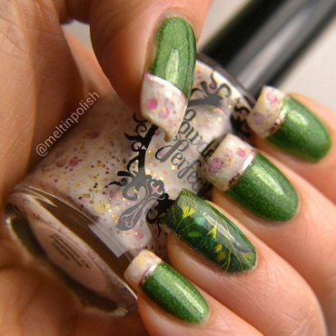 Green&Hope nail art by Meltin'polish